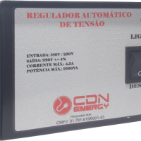 Regulador Aut. Tensão CDN Energy 1000VA 220/220V