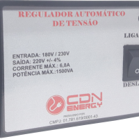 Regulador Aut. Tensão CDN Energy 1500VA 220/220V