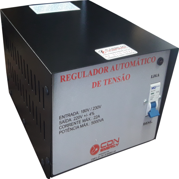 Regulador Aut. Tensão CDN Energy 5000VA 220/220V